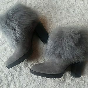 Johnston & Murphy suede shearing boots booties NWT